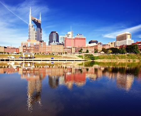 Skyline of downtown Nashville, Tennessee, USA. photo