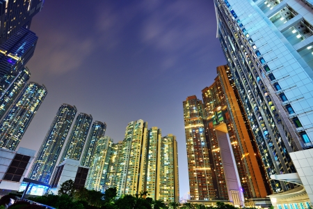 high rise: Luxury high rise apartments in Kowloon, Hong Kong SAR, China. Stock Photo