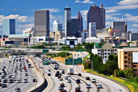expressway: Skyline of downtown Atlanta, Georgia.