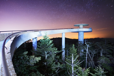 The observation deck of Clingman's Dome in the Great Smoky Mountains. Stock Photo - 20634409