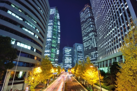 Financial district of Shinjuku, Tokyo, Japan.