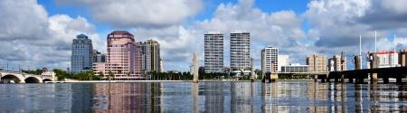 fl: Skyline of West Palm Beach, Florida, USA.
