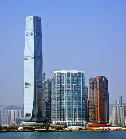 high rises: High Rises in Kowloon, Hong Kong SAR, China. Stock Photo