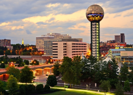 tn: Skyline of downtown Knoxville, Tennessee, USA. Editorial