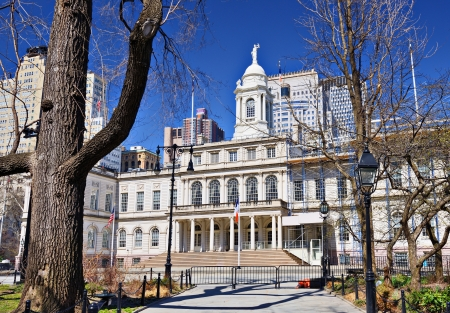 'city hall': City Hall building of New York City, USA. Editorial