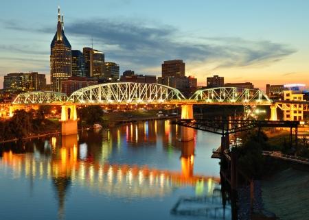 Skyline van het centrum van Nashville, Tennessee, USA.