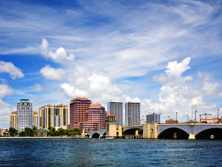 florida landscape: Downtown West Palm Beach, Florida, USA