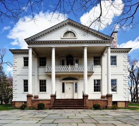 casa colonial: La histórica Morris-Jumel Mansion en Washington Heights, Nueva York, Nueva York, EE.UU.. George Washington utilizó la mansión como su sede temporal durante la guerra revolucionaria. Editorial