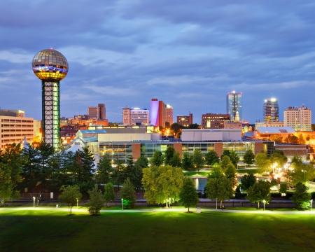 esfera: Skyline de la ciudad de Knoxville, Tennessee, EE.UU..