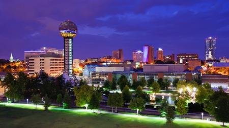 tennesse: Skyline de la ciudad de Knoxville, Tennessee, EE.UU..