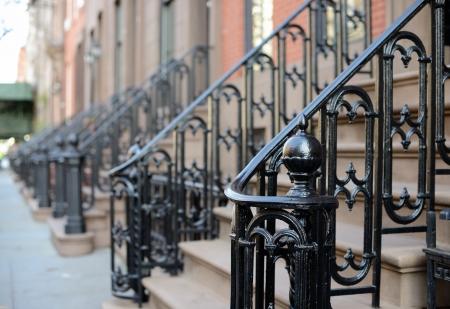 brownstone: Brownstone Apartment steps in the Chelsea neighborhood of New York City.