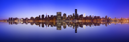 Midtown Manhattan skyline across the East River in New York City. Stock Photo - 20832892