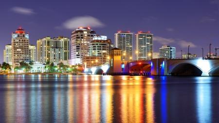 Skyline of West Palm Beach, Florida, USA. photo