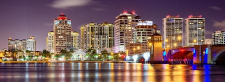 south west: Skyline of West Palm Beach, Florida, USA.