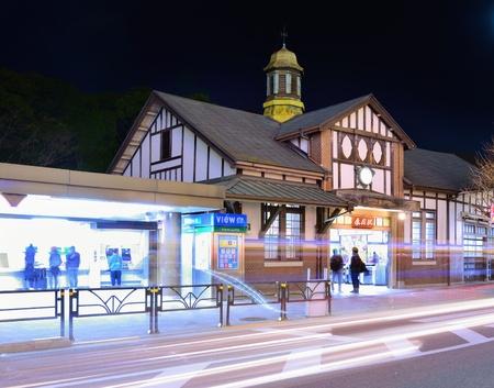 TOKYO - DECEMBER 27: Harajuku Station December 27, 2012 in Tokyo, JP. The station opened in 1906. Редакционное