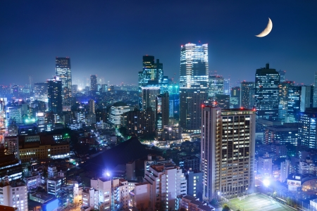 tokyo city: Tokyo cityscape at the Roppongi District. Stock Photo