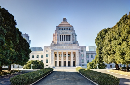 The National Diet House of Japan. 版權商用圖片