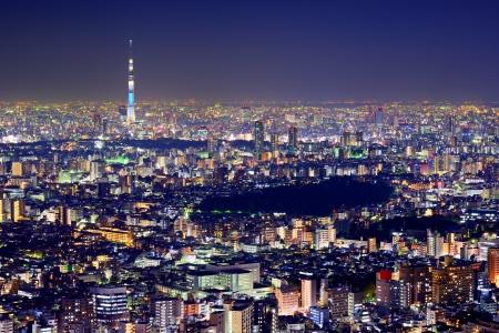 東京スカイツリーと東京の街並。 写真素材
