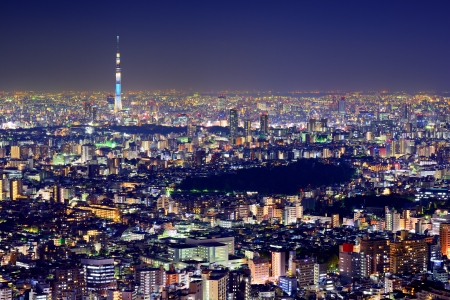 tokyo: Tokyo cityscape with the Tokyo Skytree.