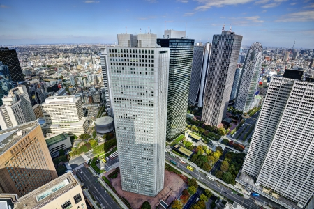 Shinjuku financial district of Tokyo, Japan. photo