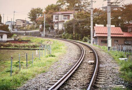 Railway through a neighborhood Stock Photo - 21383961