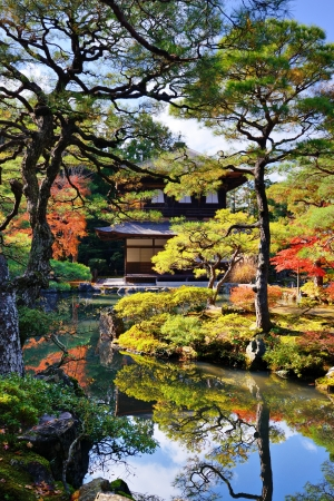 Ginkaku-ji Temple in Kyoto, Japan during the fall season Editorial