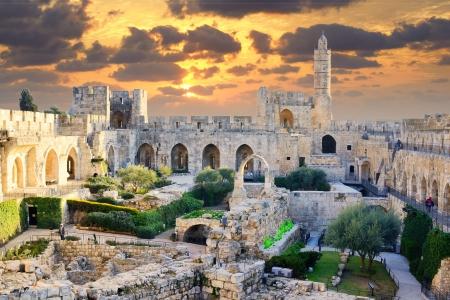 예루살렘, 이스라엘의 다윗의 탑. 에디토리얼