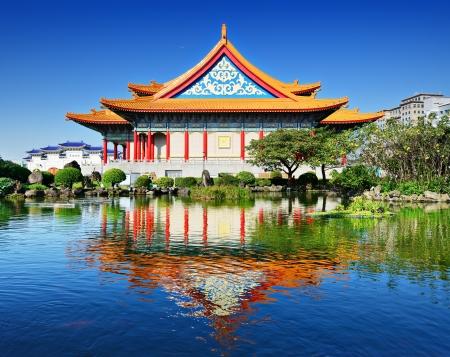 taiwan scenery: National Concert Hall of Taiwan in Freedom Square, Taipei, Taiwan.