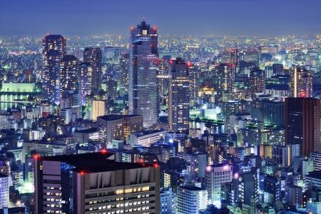 Tsukiji District skyline in Tokyo, Japan. photo