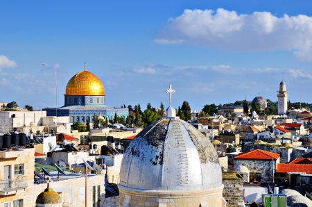 Skyline of the Old City in Jerusalem, Israel. photo