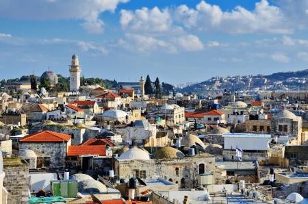 Skyline of the Old City in Jerusalem, Israel.