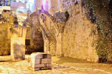 예루살렘, 이스라엘에서 유적입니다. 스톡 콘텐츠