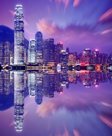victoria harbor: Hong Kong, China skyline from Victoria Harbor.