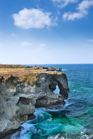 Manzamo Cliff in Okinawa, Japan.