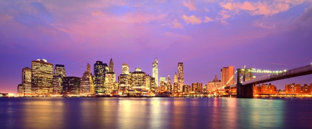 Lower Manhattan Skyline in New York City photo