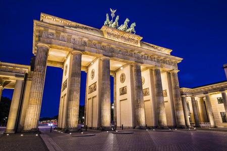 brandenburg: Brandenburg Gate in Berlin, Germany.Brandenburg Gate in Berlin, Germany. Stock Photo