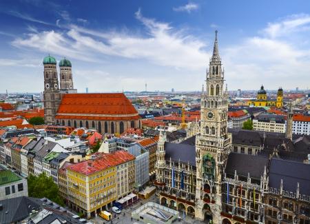 munich: Munich, Germany skyline at City Hall.