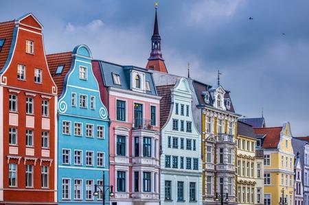 ドイツ ・ ロストック市における歴史的建造物。