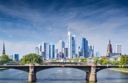 Skyline of Frankfurt, Germany, the financial center of the country. photo