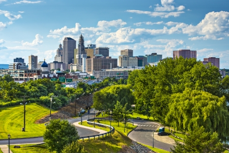 connecticut: Hartford, Connecticut, USA downtown cityscape. Stock Photo