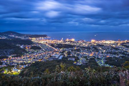 sapporo: Aerial view of Otaru, Japan.
