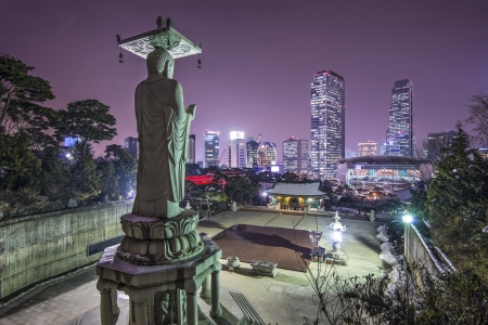 Seoul, South Korea at Bongeunsa Temple.