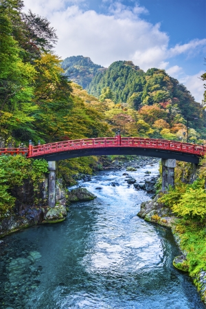 Sacred Bridge of Nikko, Japan. photo