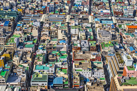 Rooftops in Busan, South Korea. photo