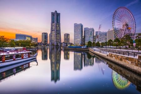 tokyo prefecture: Yokohama, Japan skyline at Minato Mirai waterfront district.