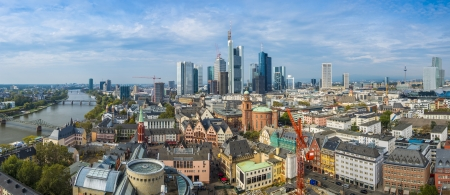 frankfurt: Panorama of Frankfurt, Germany.