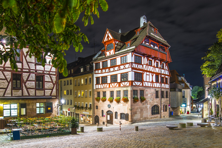 durer: Albrecht Durer House in Nuremberg, Germany. Stock Photo