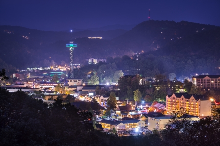 tennessee: Gatlinburg, Tennessee en las Monta�as Humeantes.
