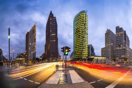 berlin: Potsdamer Platz is the financial district of Berlin, Germany.