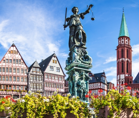 frankfurt: Old City of Frankfurt, Germany. Stock Photo